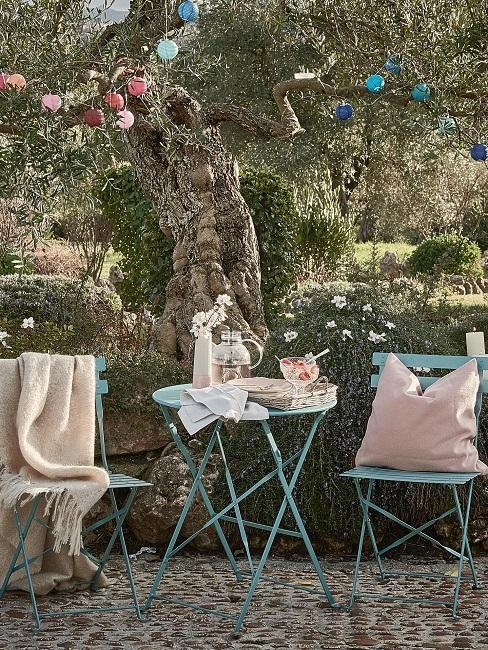 Gartenparty Textilien Kissen Decke