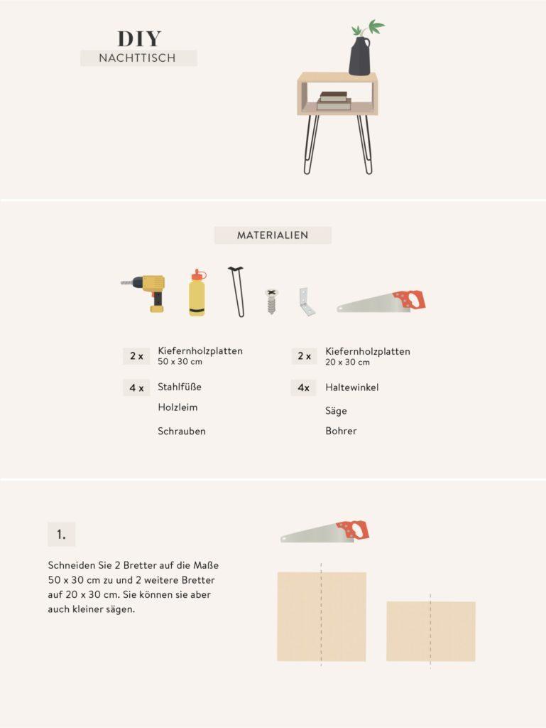 Anleitung zum Nachttisch selber bauen