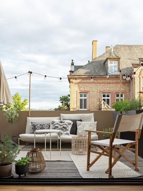 Schöner Balkon nach dem Abdichten