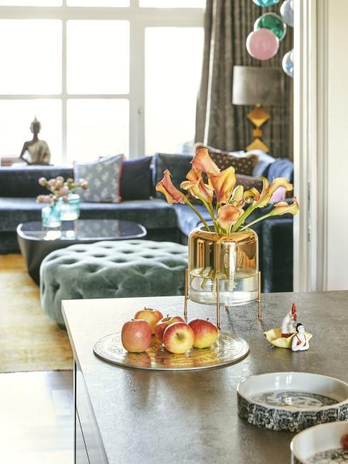 Orange Callas in Vase