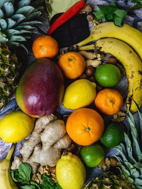 Abnehmen Ernährung Obst gemüse Ingwer