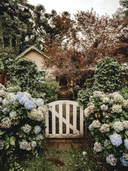 Versteckte Gartenlaube