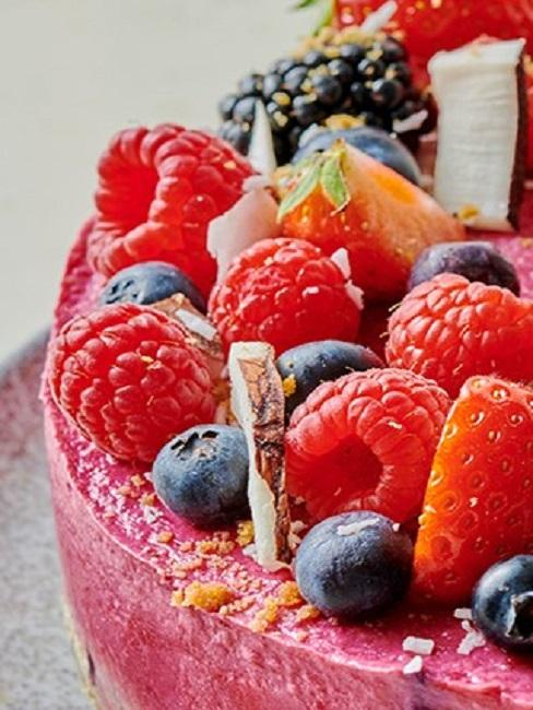 Grillparty Foodspring Himbeer Chia Pudding Torte