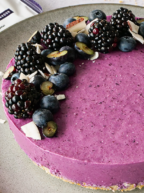 Grillparty Foodspring Blueberry Cheesecake
