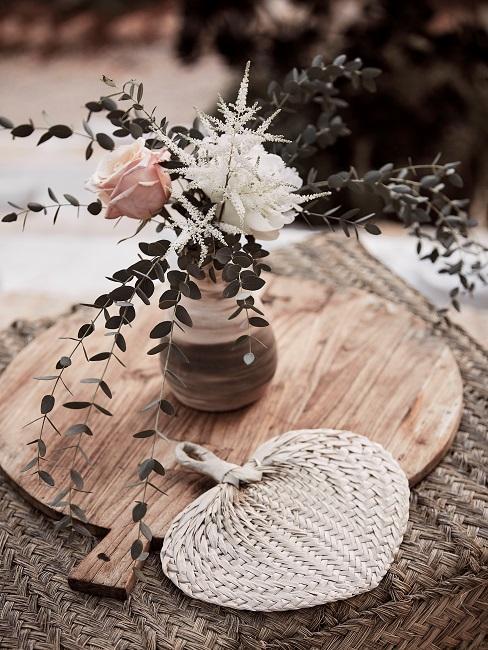 Boho terrasse Deko Blumen Vase
