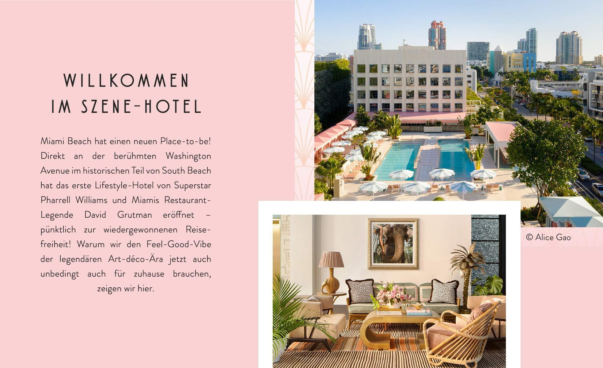 Pharrell Williams the Goodtimes Hotel Einführung Miami Art Deco Style