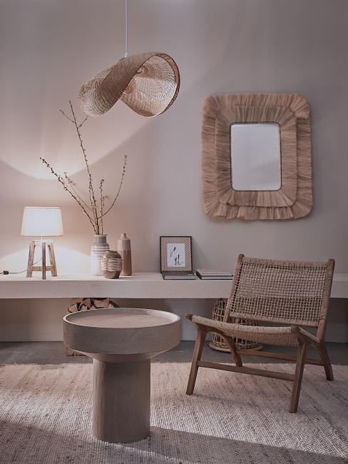 Wabi Sabi Altbauwohnung einrichten Wohnzimmer Naturmaterialien