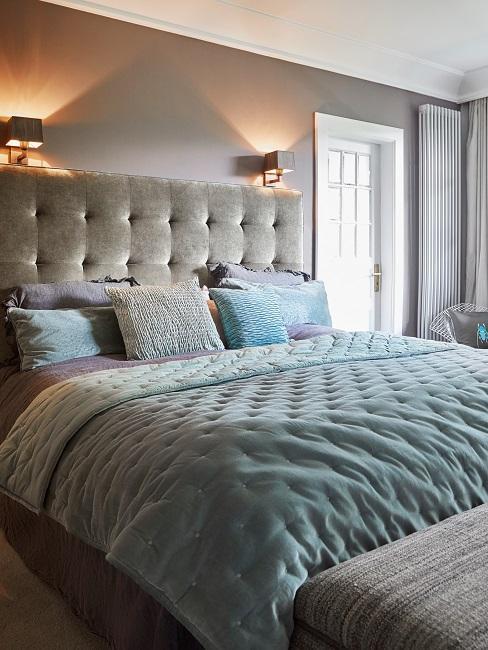 Retro New Modern Style Wohnen mit Samt Schlafzimmer Bett