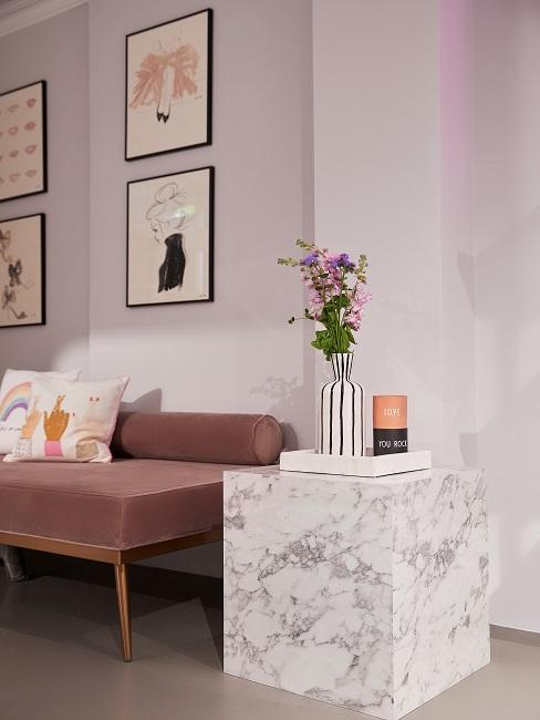 Retro New Modern Style Wohnen mit Samt Bank