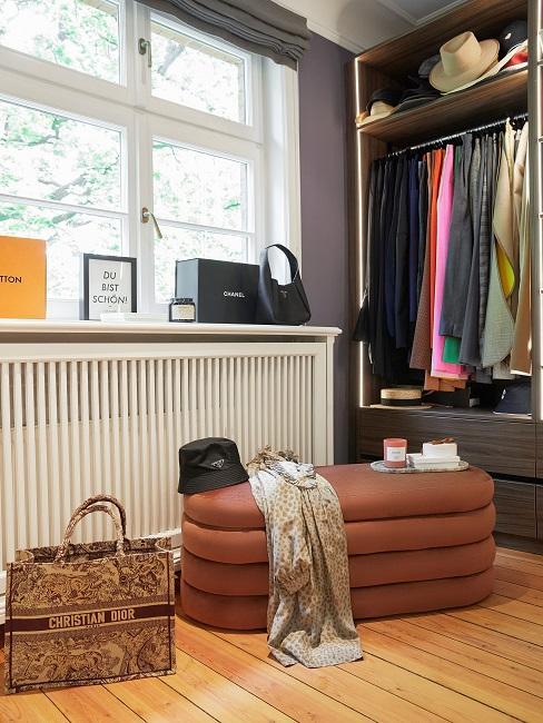 Retro New Modern Style Wohnen mit Samt Ankleidezimmer Bank