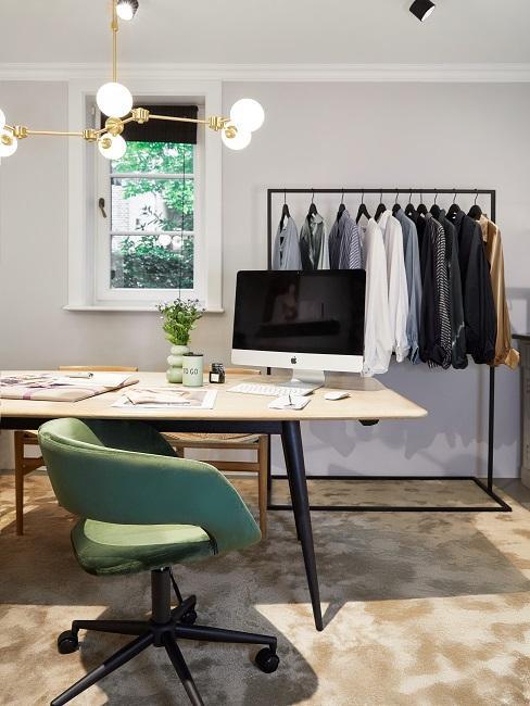 Retro New Modern Style Wohnen mit Samt Arbeitszimmer Schreibtischstuhl