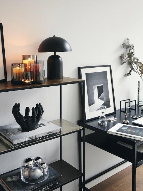 Sanduhr Regal Schreibtisch Arbeitszimmer