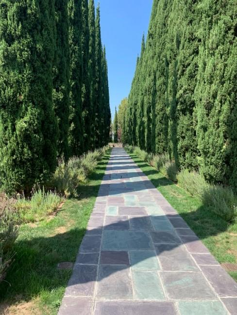 Muster beim Gartenweg verlegen