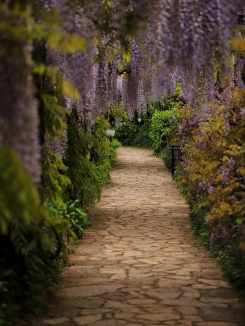 Gartenweg gestalten mit Natursteinen