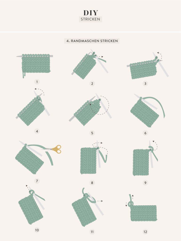 Einfache DIY Grafik Stricken lernen für Anfänger