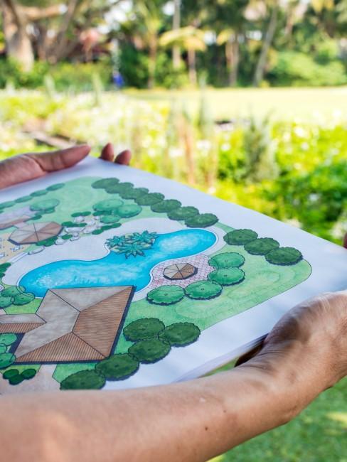 Skizze machen als wichtiger Teil der Gartengestaltung