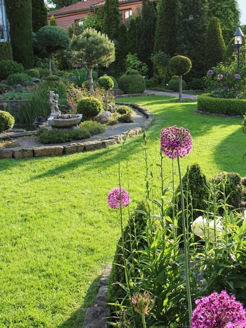 Elegante Gartenbepflanzung