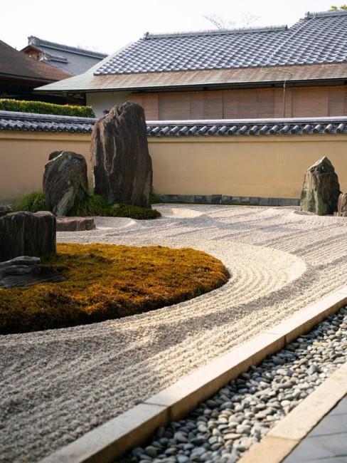 Japanischen Steingarten gestalten