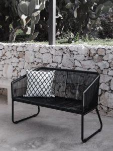 Moderne Gartenmöbel in Schwarz