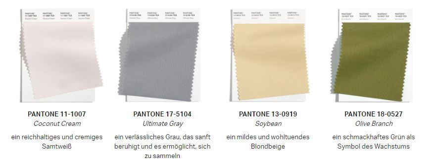 Herbstfarben 2021 Pantone Farben