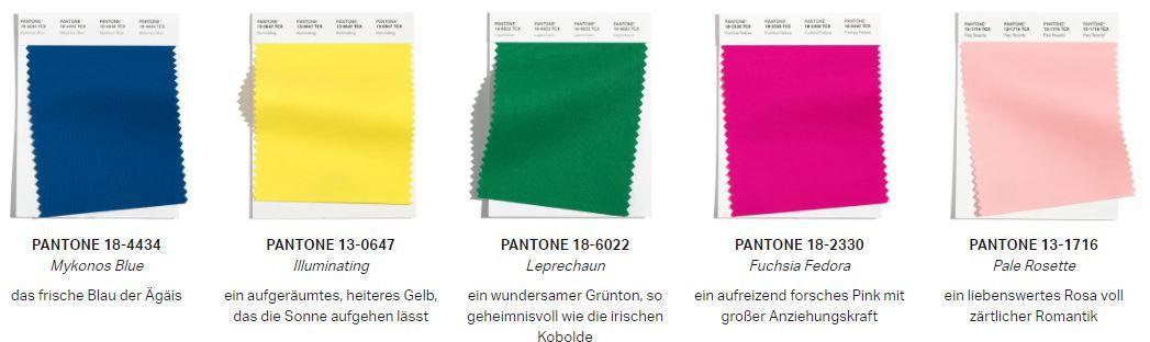 5 Pantone Farben 2021
