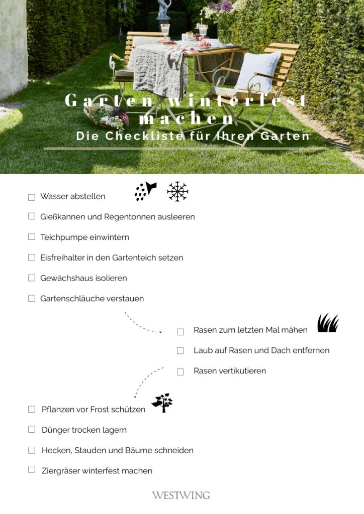 Checkliste Garten winterfest machen