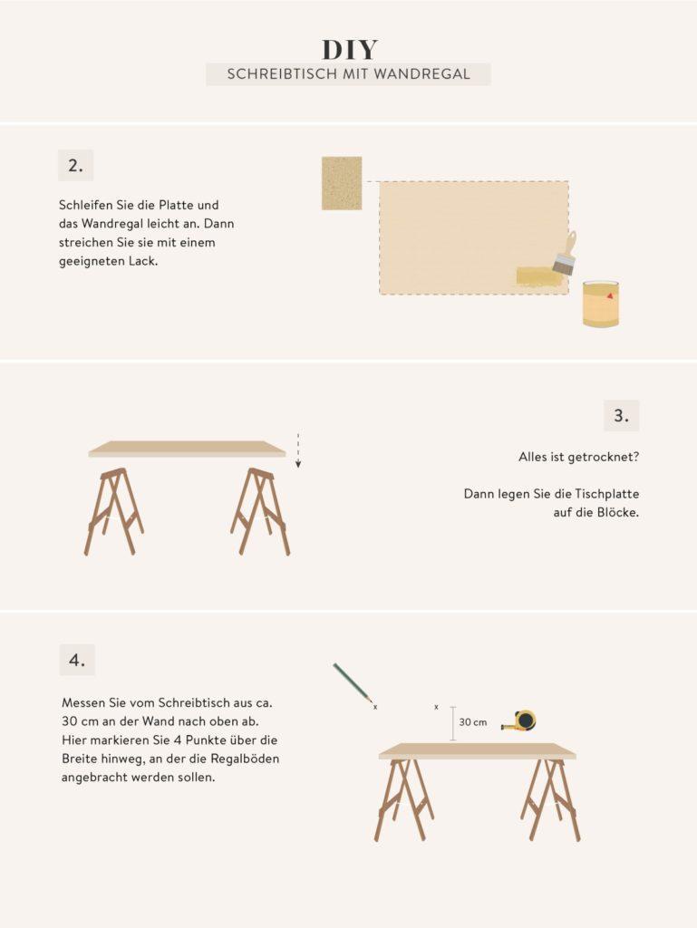Anleitung zum Schreibtisch selber bauen
