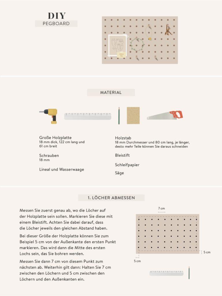 Anleitung zum DIY Pegboard aus Holz
