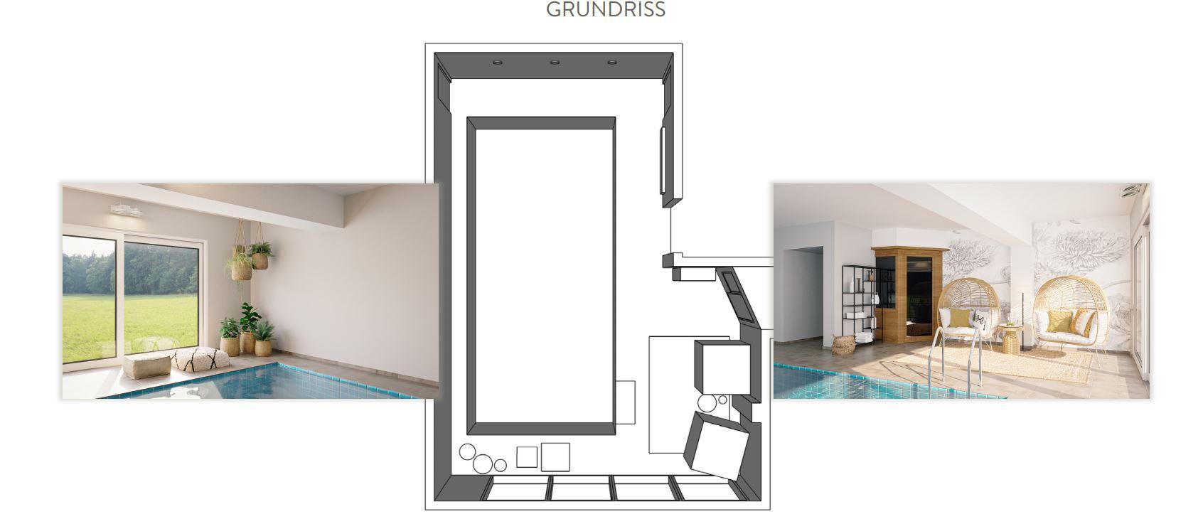 Poolgestaltung Grundriss