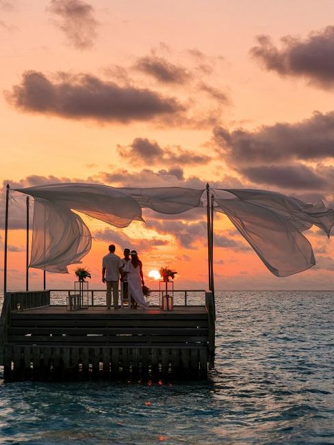 Baros Maldives Piano Deck Zeremonie Trauung