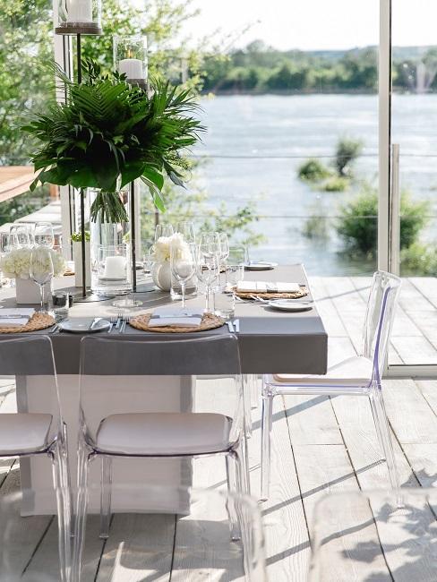 Hochzeitslocations Insel Nonnenau DJ Markus Tische