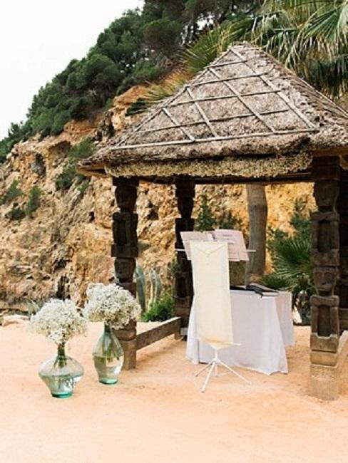 Hochzeitslocations Amante Ibiza Trauung Pavillon Strand