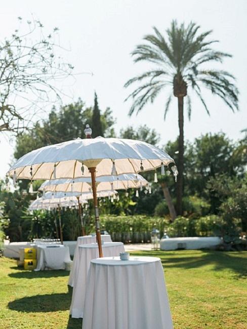 Hochzeitslocations Atzaro Ibiza Stehtische Sektempfang