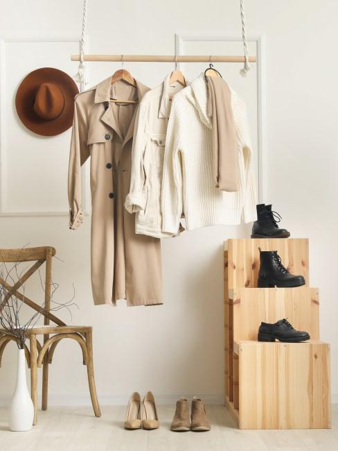 DIY Garderobe hängt von der Decke