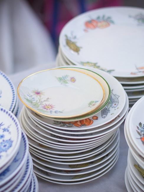 Geschirr entsorgen altes Porzellan