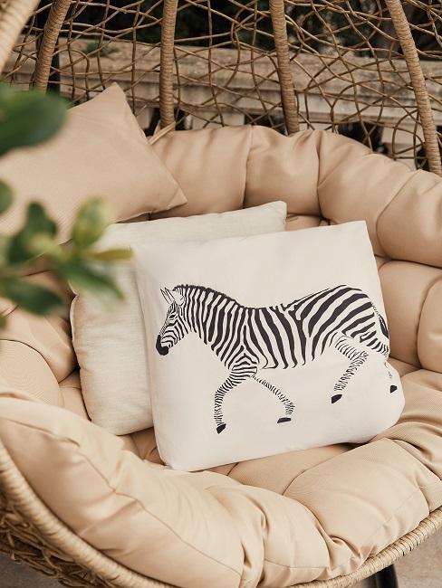 Kissen mit einem Zebra Print