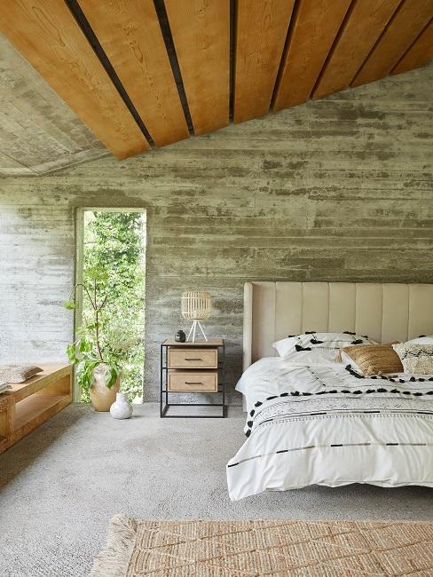 Schlafzimmer mit vielen Boho Elementen