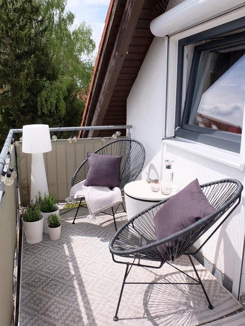 Interior Design Service Boho Terrasse Balkon Nachher