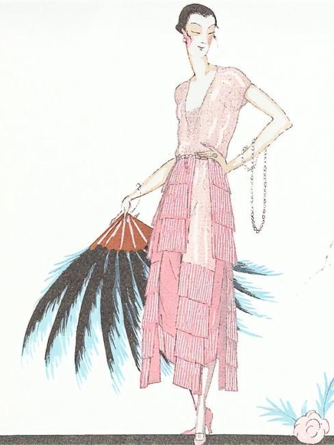 Zeichnung im Stil der 20er Jahre
