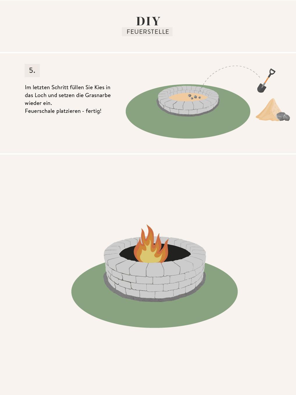 Anleitung für eine Feuerstelle