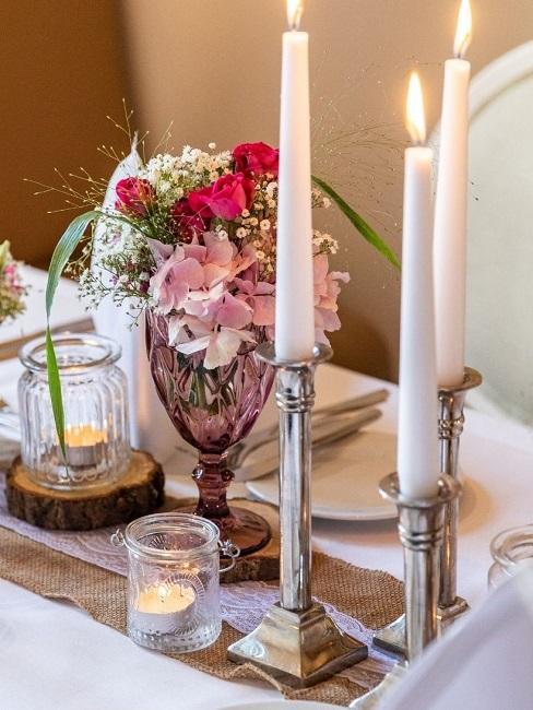Schloss Romrod Deko Tisch Dinner