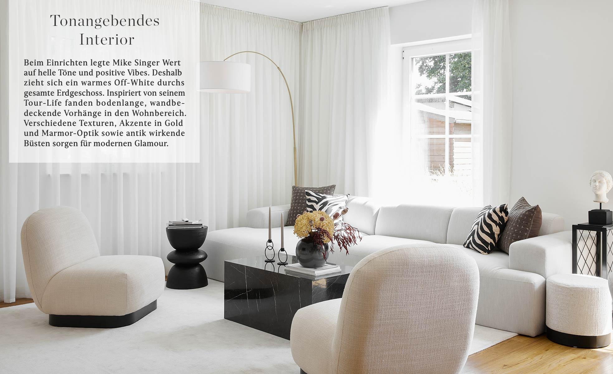 Mike Singer Farben Off White Materialien