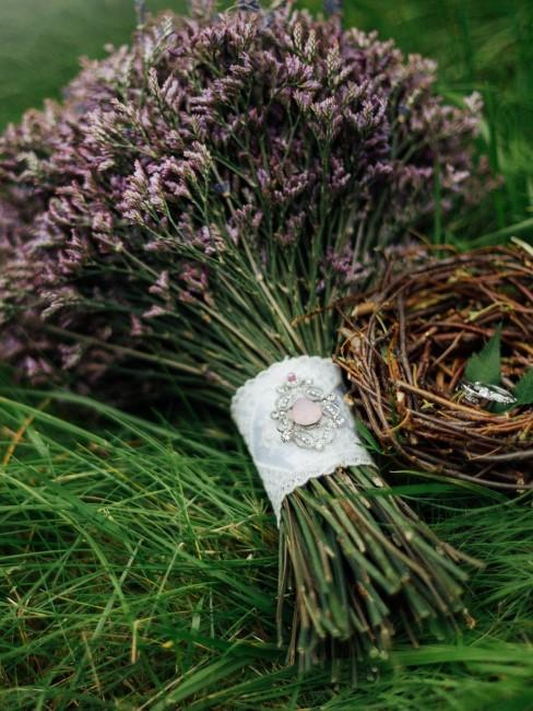 Brautstrauß aus Lavendel