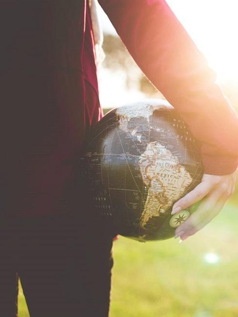 Weltreise Frau Globus