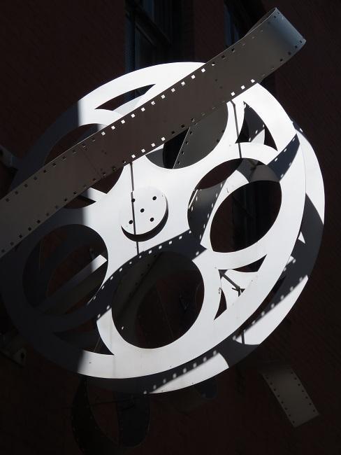 Filmband in schwarz und weiß
