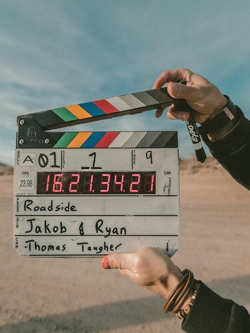 Filmaufnahme Tafel