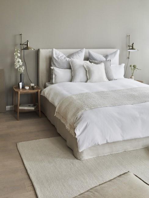 Schlafzimmer einrichten in Grau und Weiß