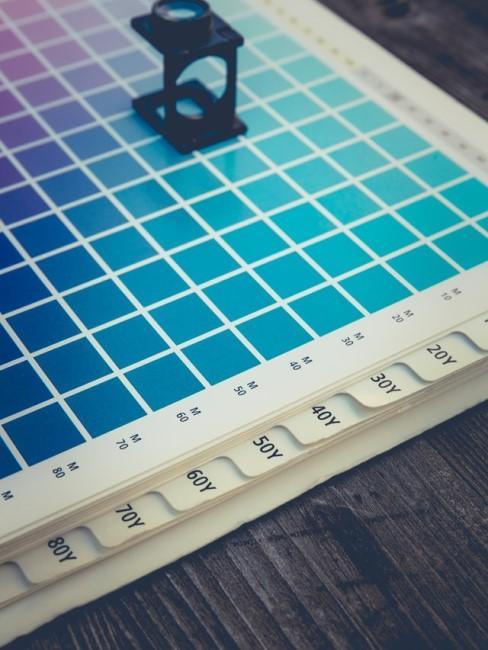 Farbpalette von Azurblau