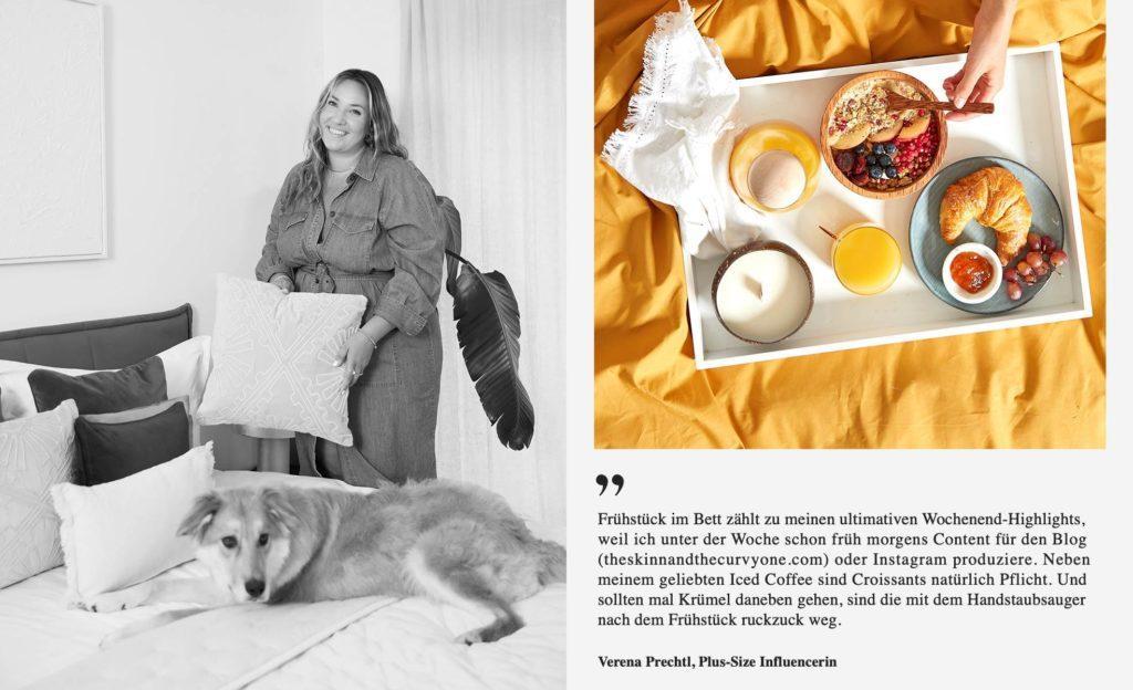 Verena Prechtl Schlafzimmer Frühstück im Bett