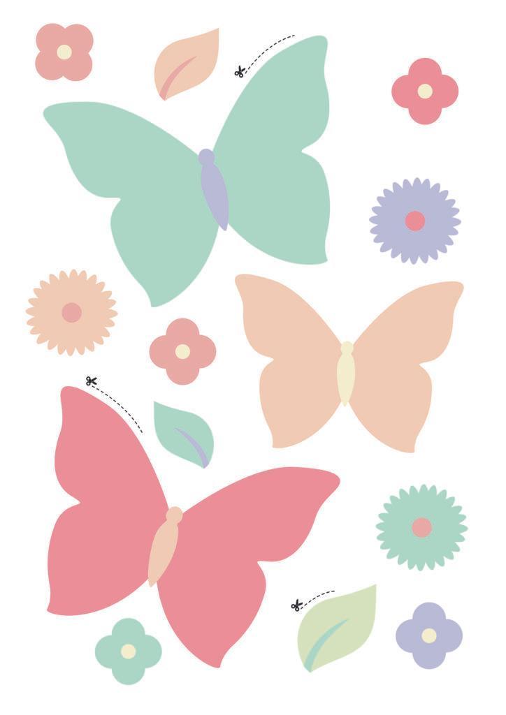 Westwing Schmetterlinge zum Schultüte Basteln